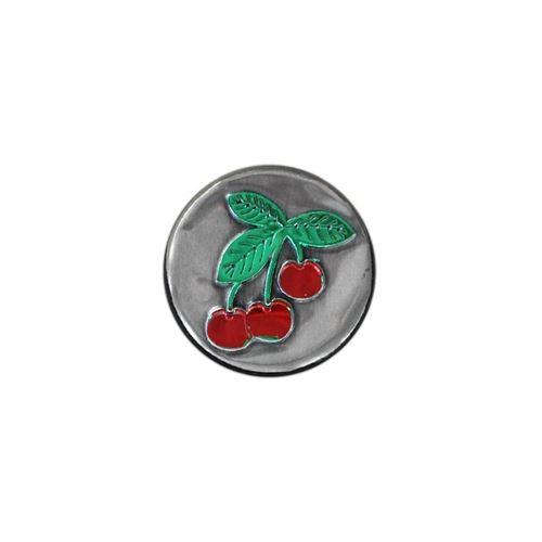 Round metal label - Cherry