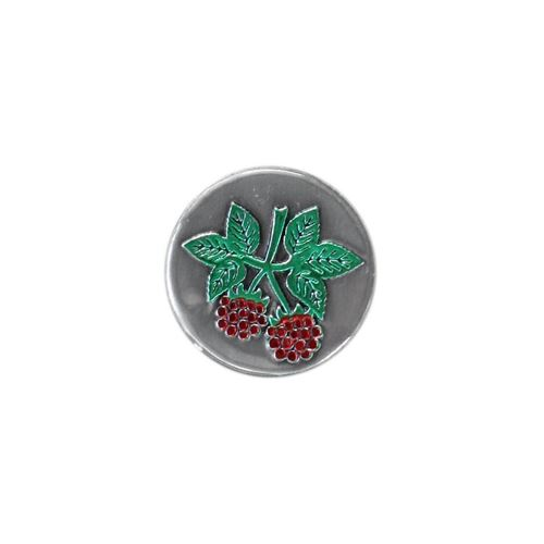 Round metal label - Raspberry