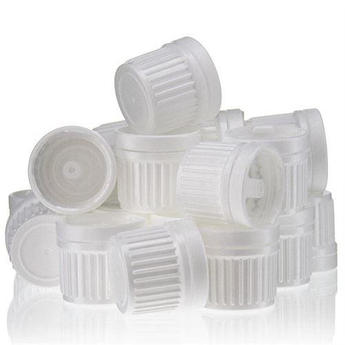 Schroefdeksel DIN 18 wit met druppelteller