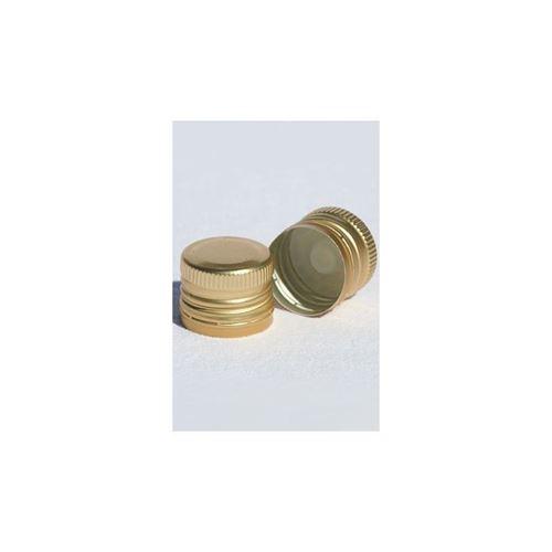 Schroefdeksel PP31,5 goud met draad en tuit
