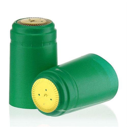 Krimp capsule typ M mintgroen met gouden afdekking