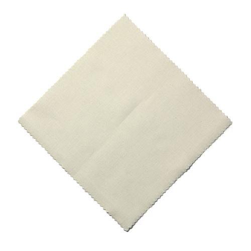Serwetka z materiału, 15x15cm, beżowa, z wstążką