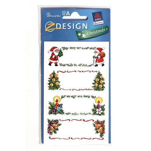 Skrivbare juleetiketter