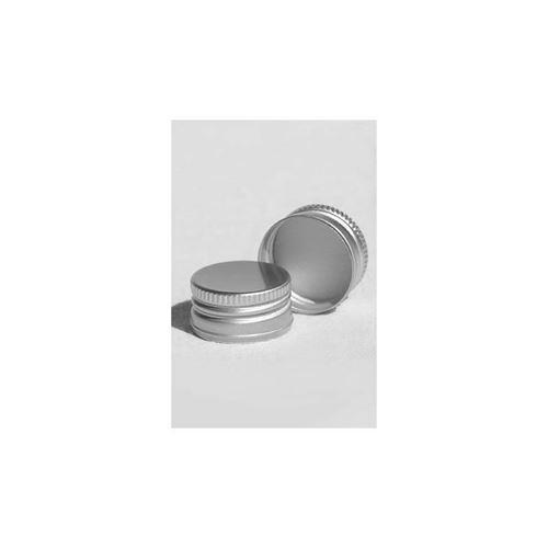 Skruelåg PP31,5 med gevind, sølvfarvet