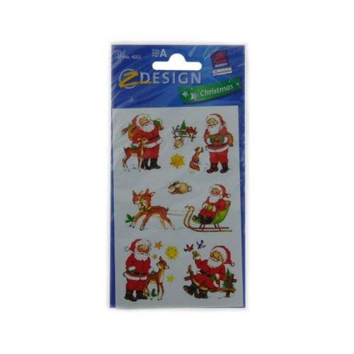 Stickers kerstman