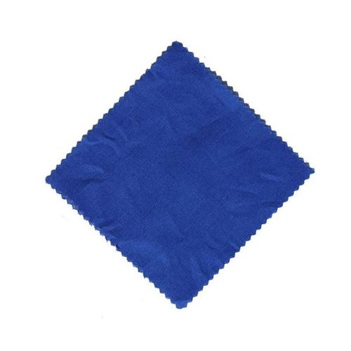Stof overlapje blauw 12x12cm incl. textiel lus