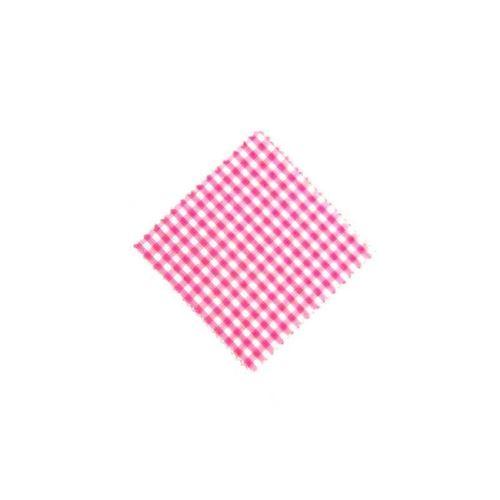 Stoffdeckchen Karo Pink 12x12cm inkl. Textilschleife