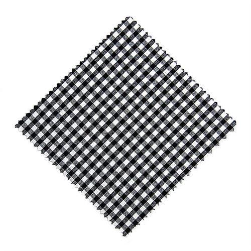 Stoffdeckchen Karo Schwarz 15x15cm inkl. Textilschleife