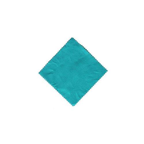Stoffdeckchen Petrol-einfarbig 12x12cm inkl. Textilschleife