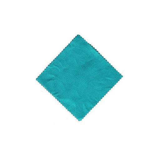 Napperon petrol uni 15x15cm incl. noeud textile