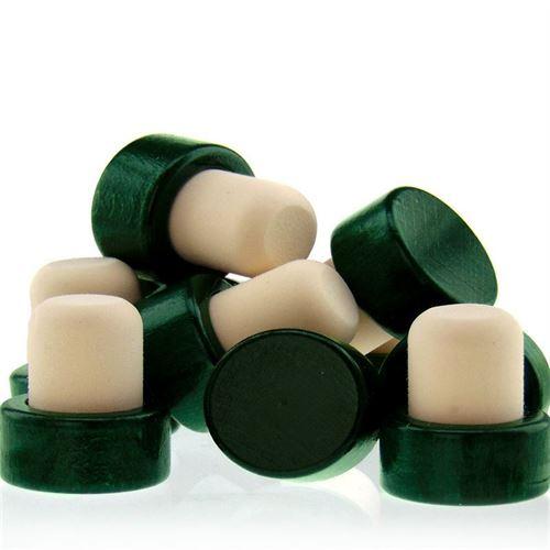 Tappo in sughero con piano in legno Tipo M (19mm) verde