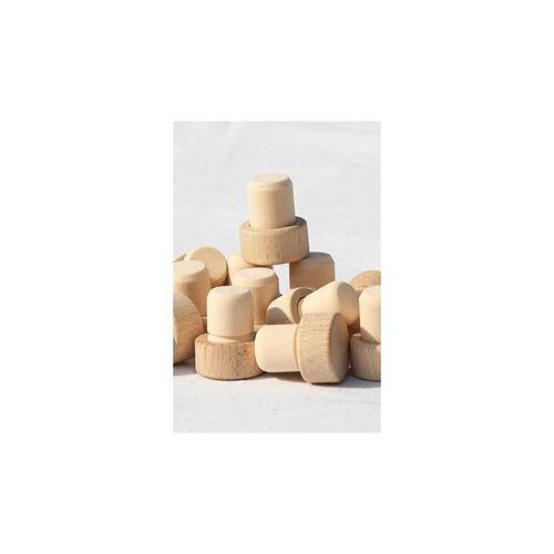 Tappo in sughero con piano in legno Tipo M-Minus (18mm)