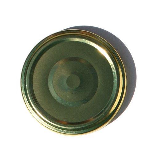 Twist off låg, 66mm, guldfarvet