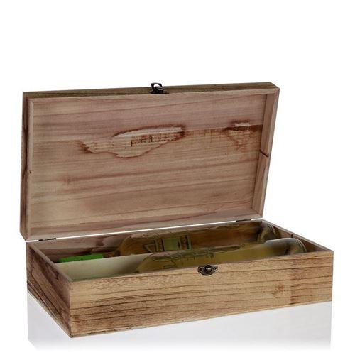 Weinkiste aus Naturholz für 2 Flaschen