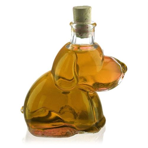 "200ml flaske i klart glas ""Wuffi"""