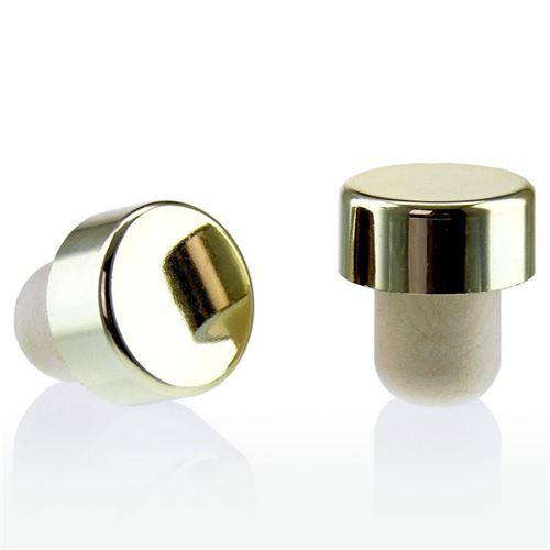 Les bouchons en liège à poignée doré/brillant métallisé type M