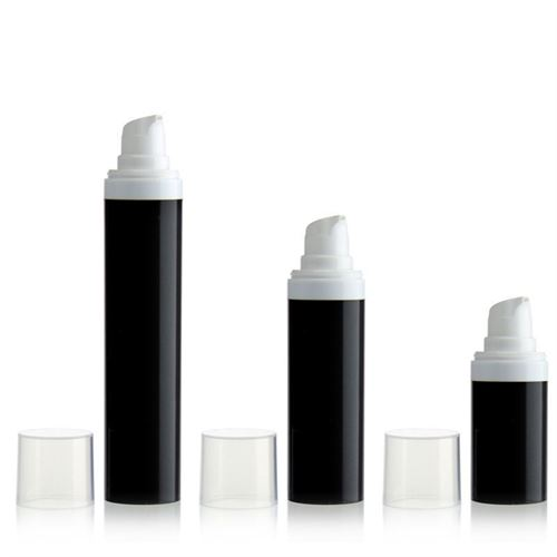 30ml airless pump MICRO black/white