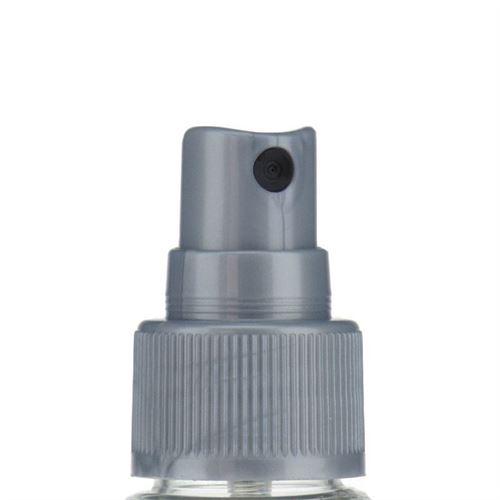 """100ml bottiglia PET """"Carlo"""" colore argento con erogatore spray"""