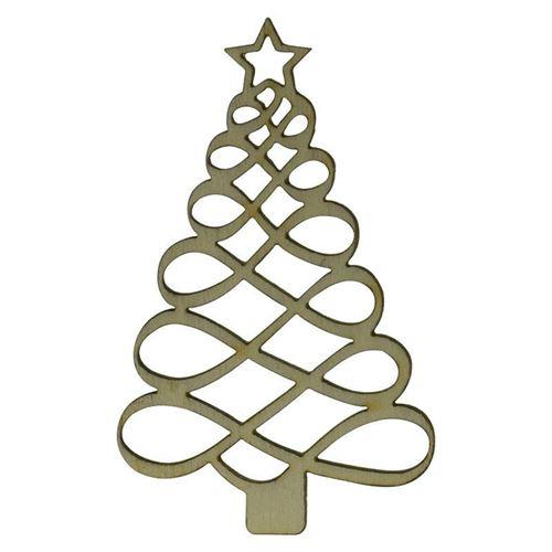 "etiqueta de madera ""arbol de navidad"""