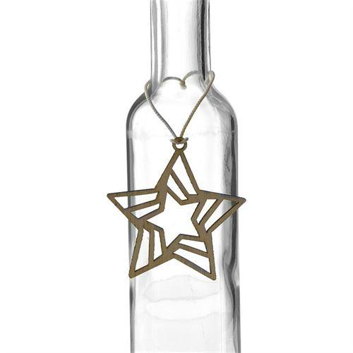 """etiqueta de madera """"estrella"""""""