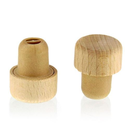 Wooden stopper TYPE M (19mm) with spout