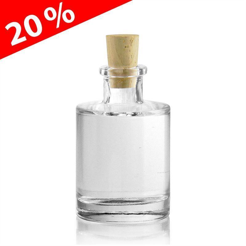 100ml botella de vidrio transparente josy botellas y - Botellas de vidrio para regalo ...