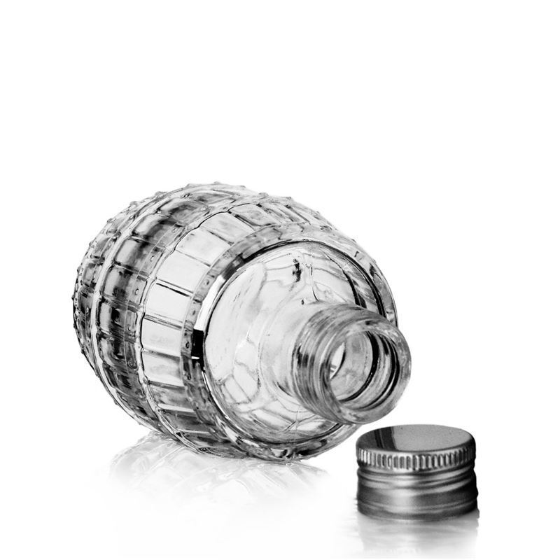 100ml Clear Glass Bottle Quot Barrel Quot World Of Bottles Co Uk