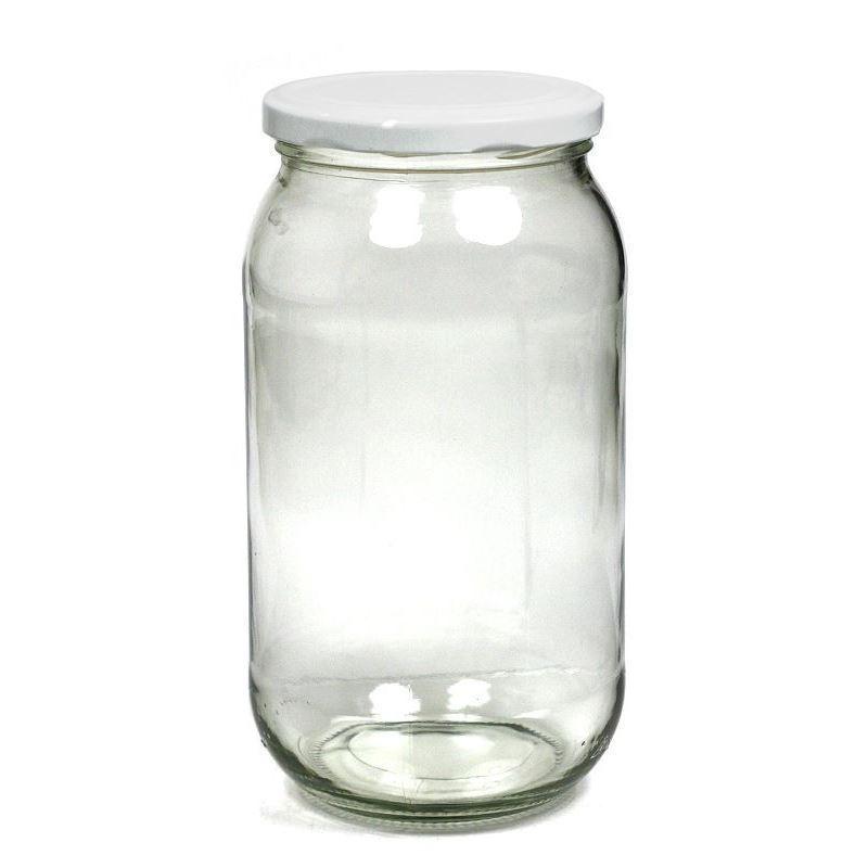 Ronde Glazen Pot.1062ml Ronde Glazen Pot Met Twist Off 82