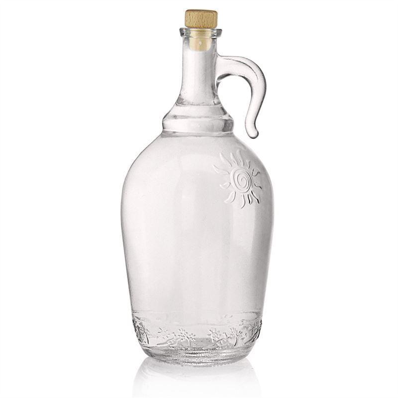 2000ml bouteille en verre clair avec anse sunny bouteilles et. Black Bedroom Furniture Sets. Home Design Ideas