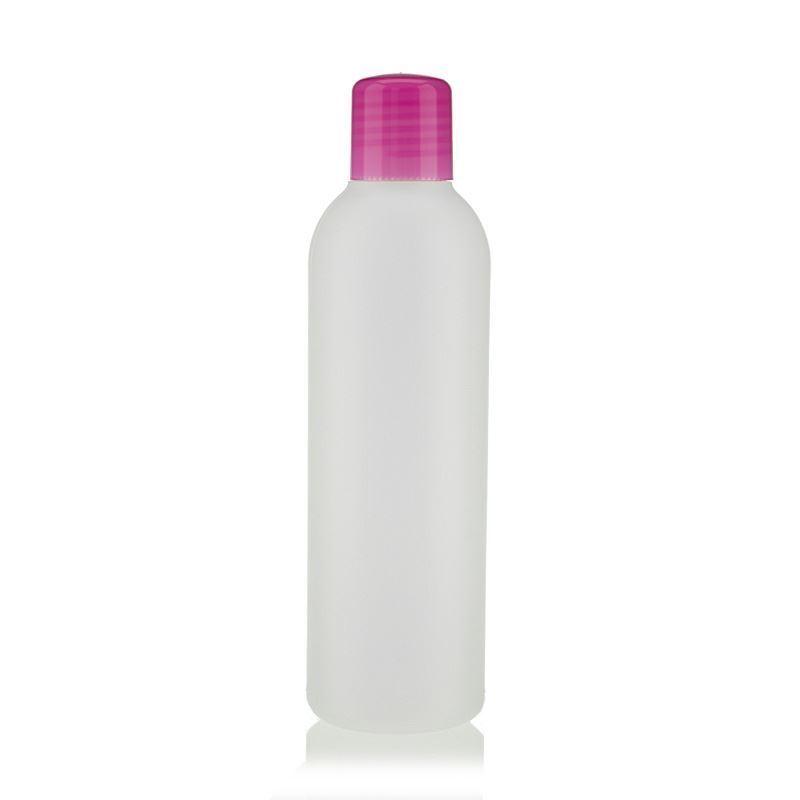 200ml hdpe flasche tuffy natur pink mit spritzeinsatz. Black Bedroom Furniture Sets. Home Design Ideas