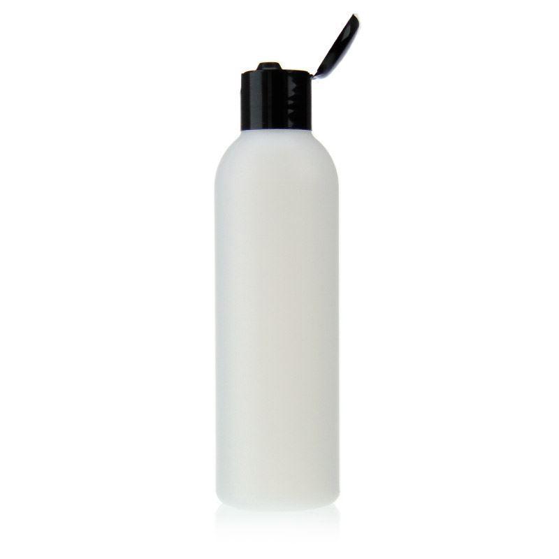 200ml hdpe flasche tuffy natur schwarz mit klappscharnier. Black Bedroom Furniture Sets. Home Design Ideas