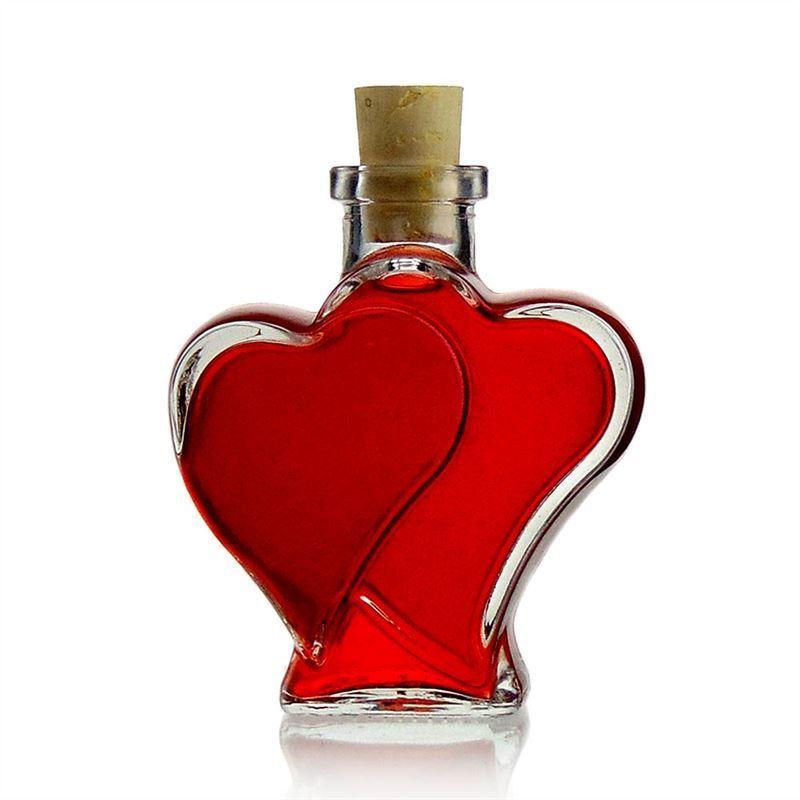 """Botella en forma de corazón """"Amor"""" de 200ml"""