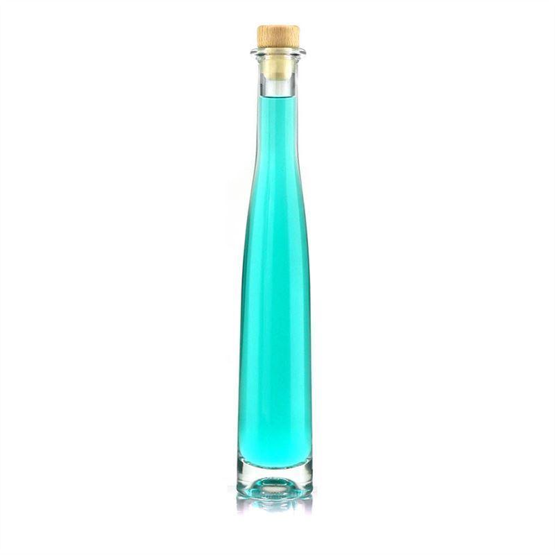 200ml botella de vidrio transparente numero uno - Botellas de vidrio para regalo ...