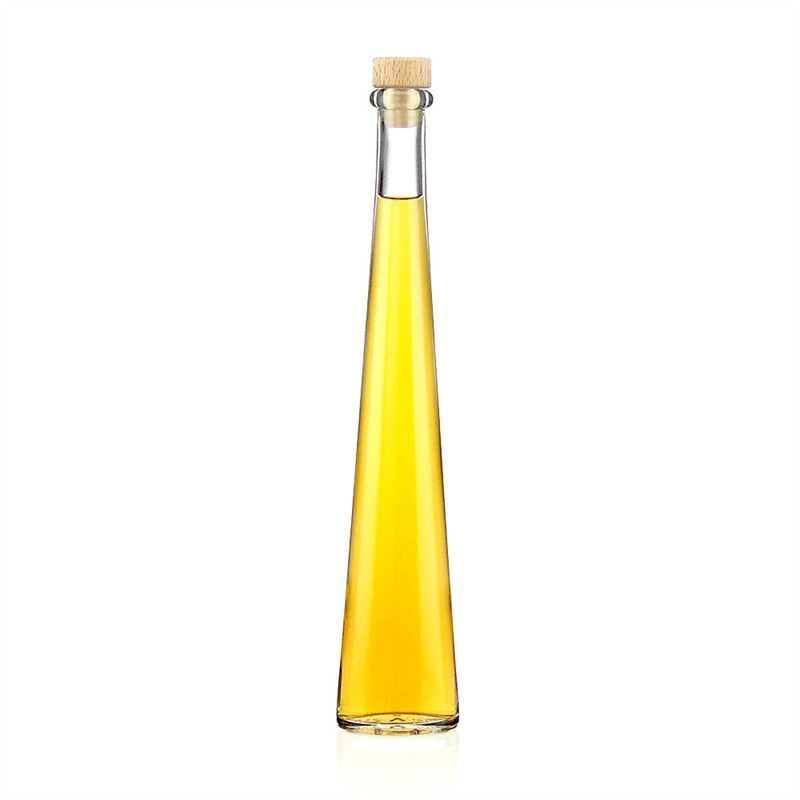 200ml botella de vidrio transparente ovale botellas y - Botellas de vidrio para regalo ...