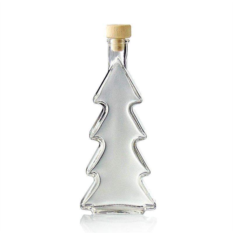 Ml Christmas Tree Glass Bottle
