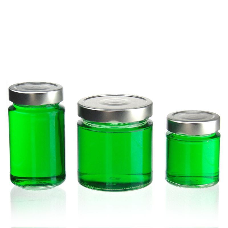 250ml round design jar summertime world of for Designer glass jars