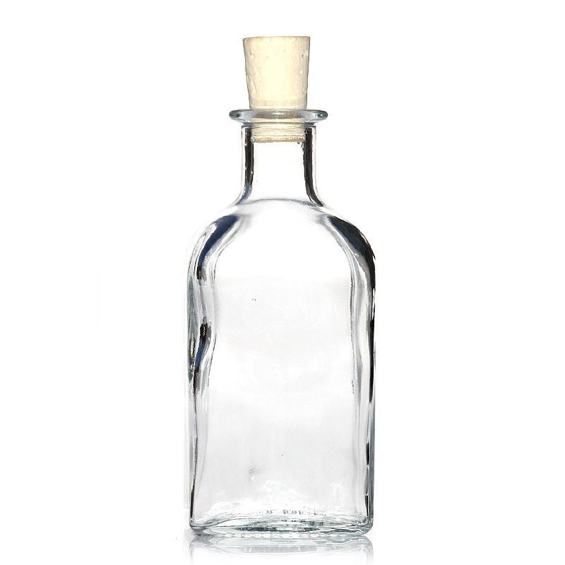 250ml botella de vidrio transparente apo carree - Botellas de vidrio para regalo ...