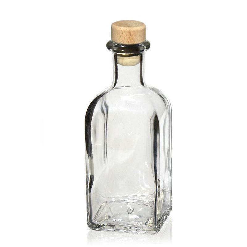 250ml botella cuadrada quadrina botellas y - Vidrio plastico transparente precio ...