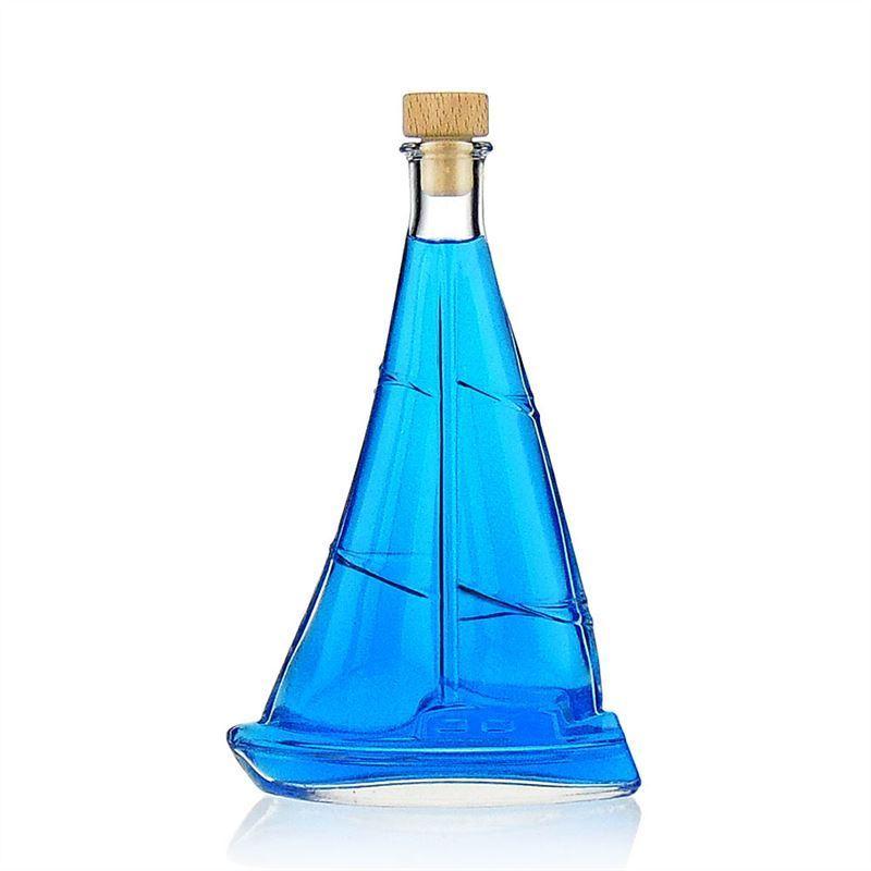 350ml botella de vidrio transparente barco de vela - Botellas de vidrio para regalo ...