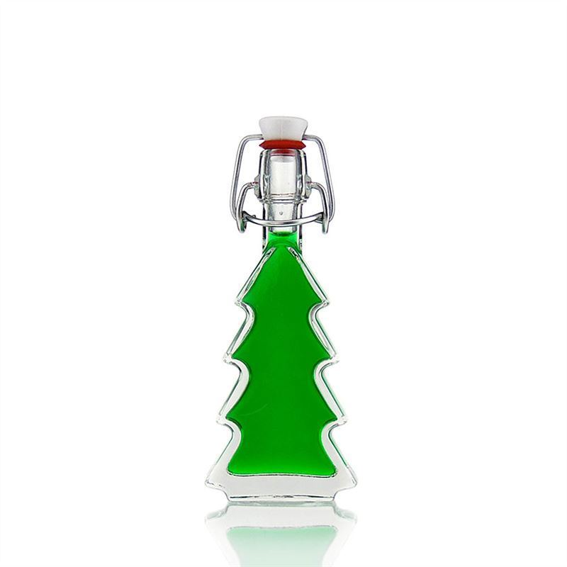 "Christmas Tree Drinking Water: 40ml Clear Glass Bottle ""Christmas Tree"""