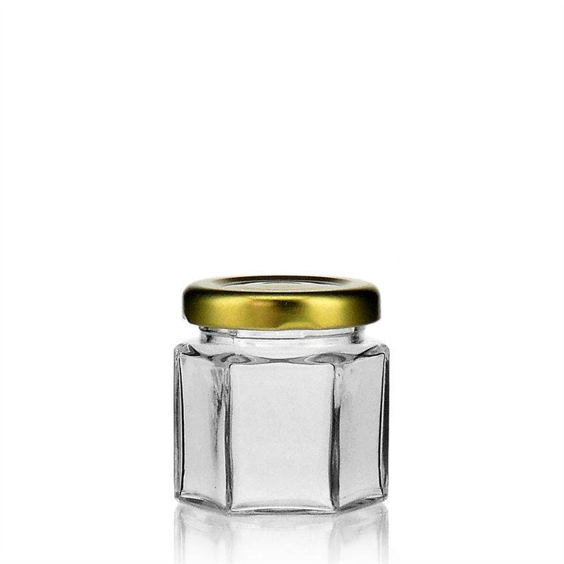 47ml vasetto in vetro esagonale con tappo a vite twist off - Vasetti vetro ikea ...