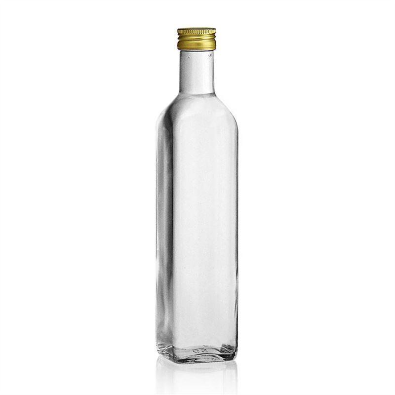 500ml botella de vidrio transparente marasca botellas - Botellas de vidrio para regalo ...