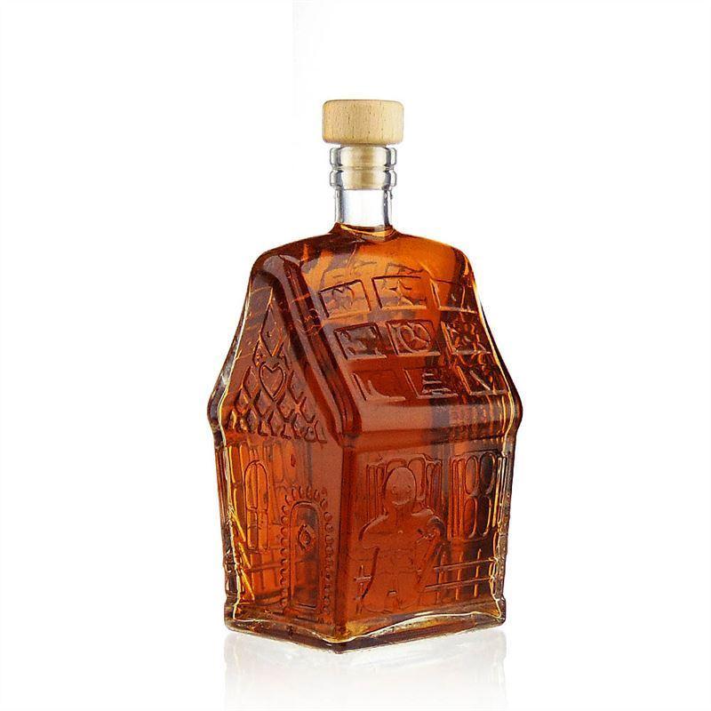 500ml bottiglia in vetro chiaro casa di natale for Casa di vetro contemporanea