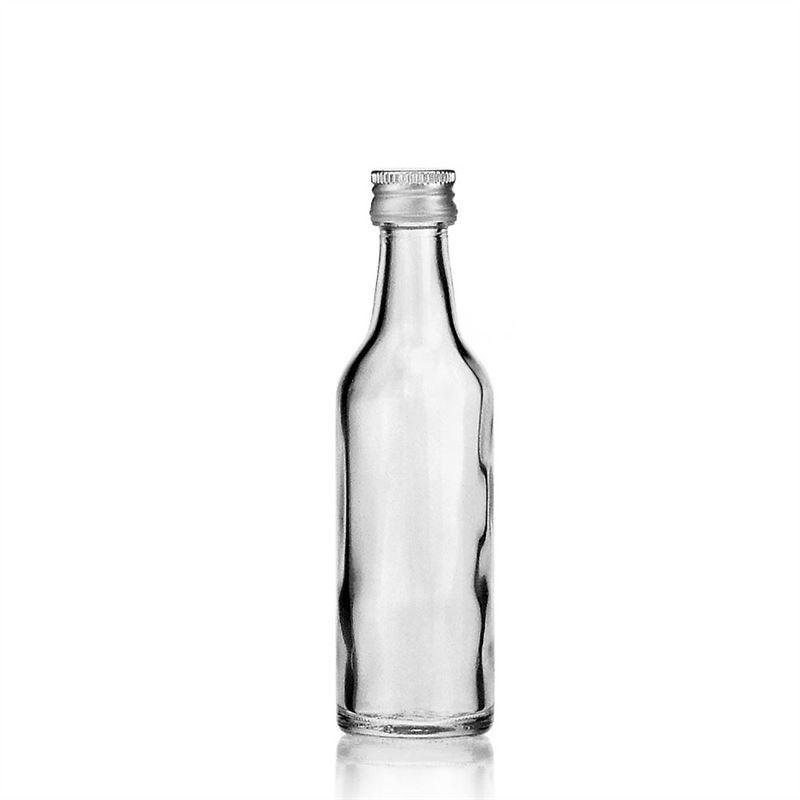 50ml bouteille verre clair gosier droit bouteilles et. Black Bedroom Furniture Sets. Home Design Ideas