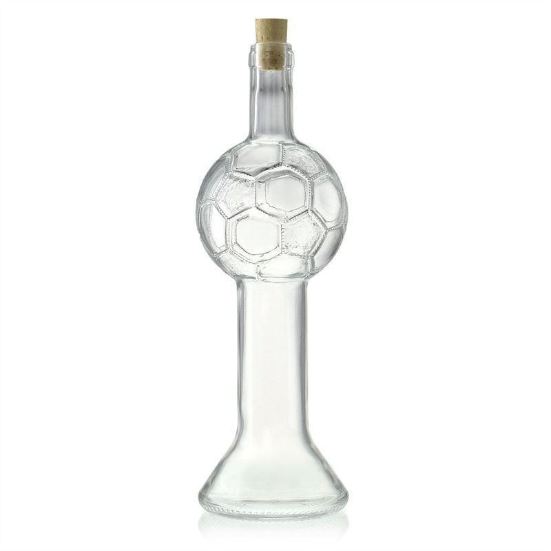 700ml bouteille en verre clair coupe de football bouteilles et. Black Bedroom Furniture Sets. Home Design Ideas