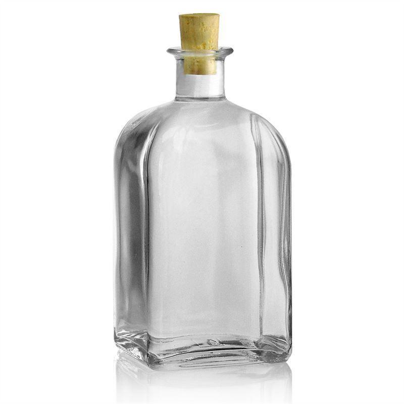 700ml botella de vidrio transparente farmace tica carree - Botellas de vidrio para regalo ...