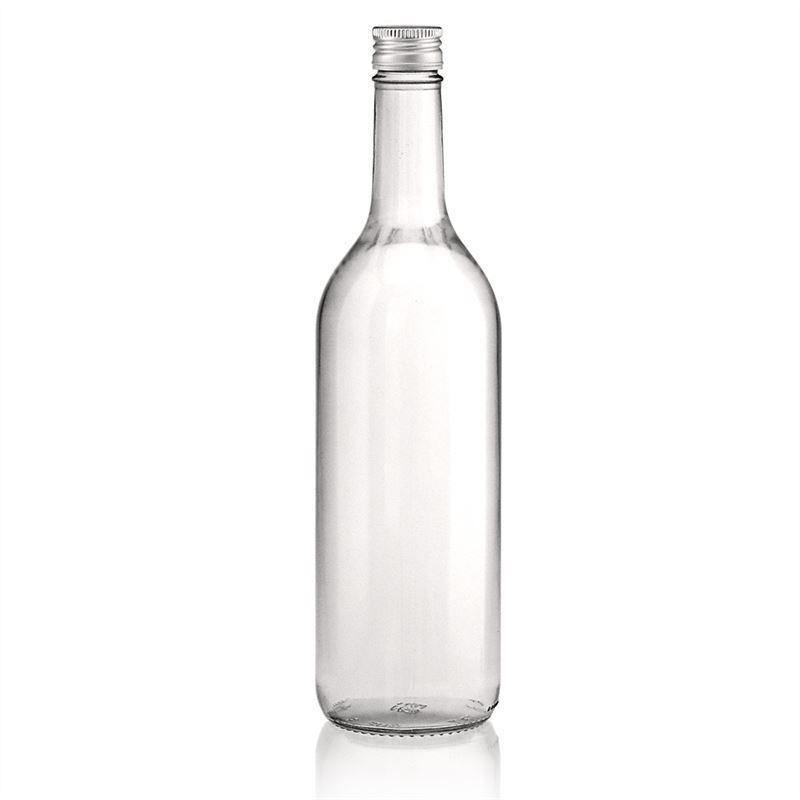 750ml clear glass bottle bordeaux alleg e screw cap for Glass bottles for wine