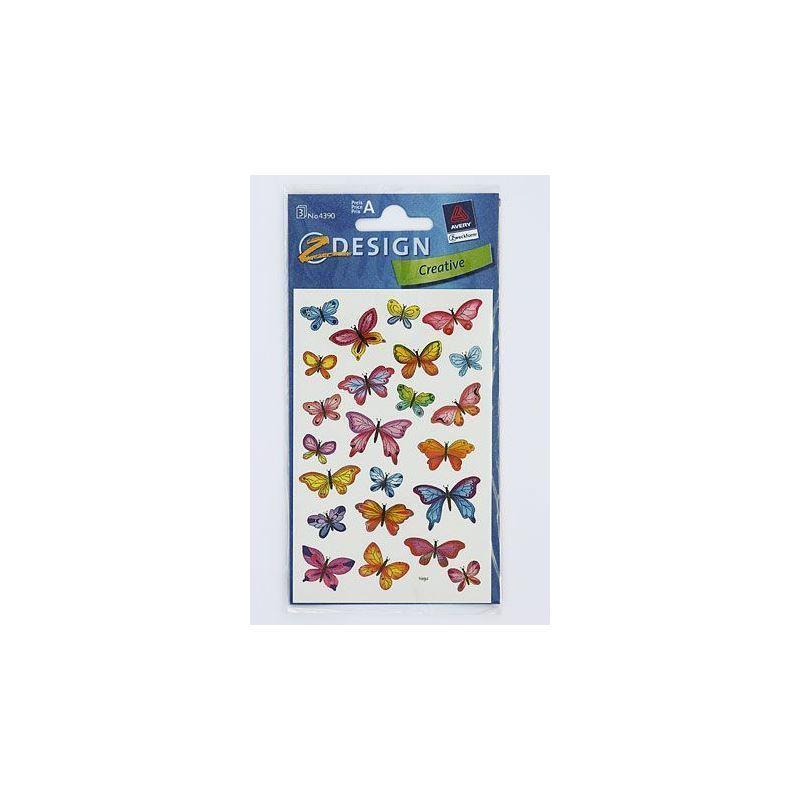 Adesivi decorativi farfalle piccole bottiglie e for Adesivi decorativi