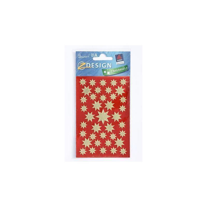 Adesivi decorativi stelle natalizie oro metallizzato for Adesivi decorativi