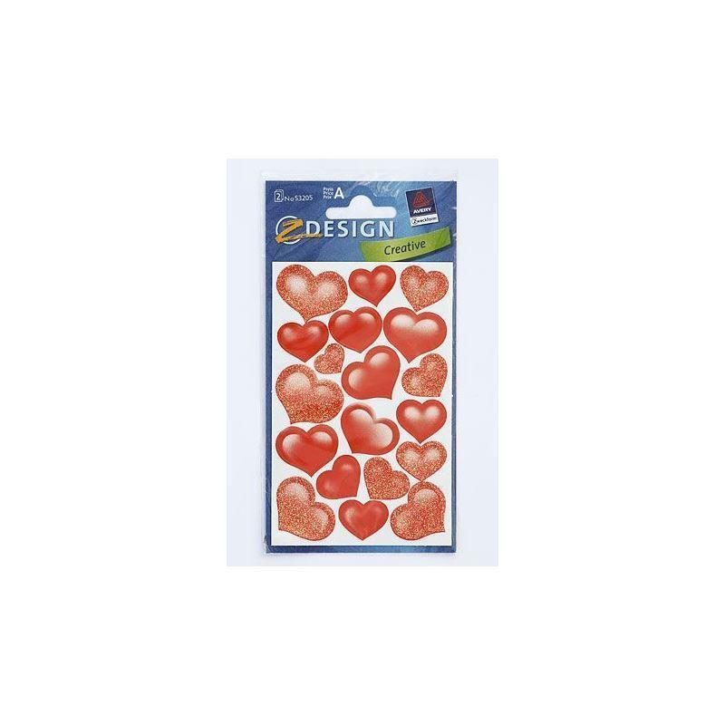 Adesivi decorativi lovely hearts con brillante for Adesivi decorativi